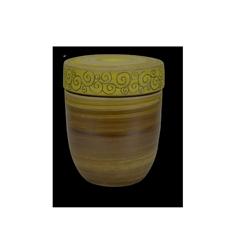 Keramikurnen mit Oxiden eingefärbt, Dekorband in farbiger Engobe, Ritztechnik